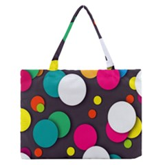 Color Balls Medium Zipper Tote Bag