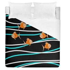 Five Orange Fish Duvet Cover (queen Size)