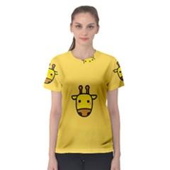 Cute Face Giraffe Women s Sport Mesh Tee