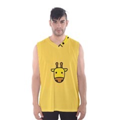 Cute Face Giraffe Men s Basketball Tank Top
