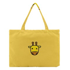 Cute Face Giraffe Medium Tote Bag