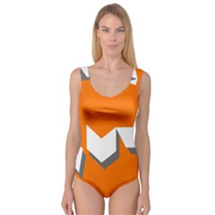 Cute Orange Chevron Princess Tank Leotard
