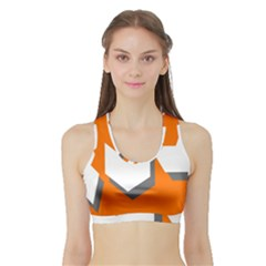 Cute Orange Chevron Sports Bra with Border
