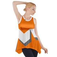 Cute Orange Chevron Side Drop Tank Tunic