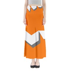 Cute Orange Chevron Maxi Skirts