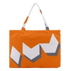 Cute Orange Chevron Medium Tote Bag