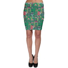 Animal Cage Bodycon Skirt