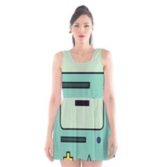 Cute Calculator Scoop Neck Skater Dress