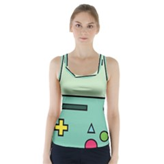 Cute Calculator Racer Back Sports Top