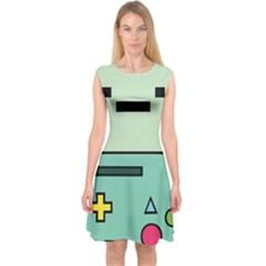 Cute Calculator Capsleeve Midi Dress