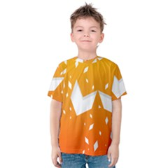 Cute Orange Copy Kids  Cotton Tee