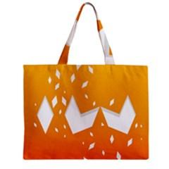Cute Orange Copy Zipper Mini Tote Bag