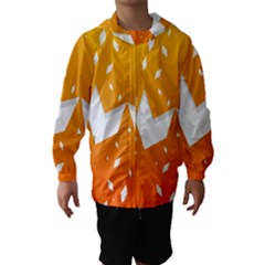 Cute Orange Copy Hooded Wind Breaker (Kids)