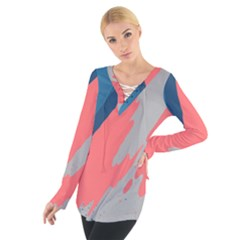 Colorful Women s Tie Up Tee
