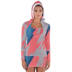 Colorful Women s Long Sleeve Hooded T-shirt