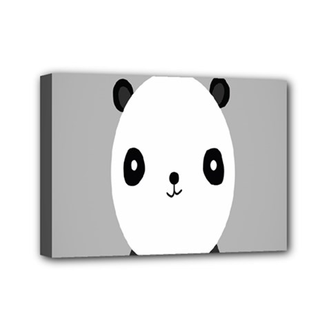 Cute Panda Animals Mini Canvas 7  x 5