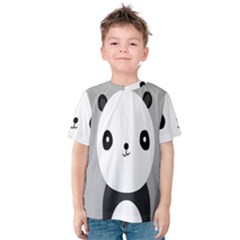 Cute Panda Animals Kids  Cotton Tee