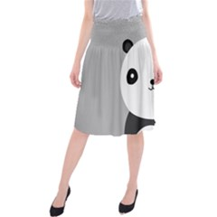 Cute Panda Animals Midi Beach Skirt