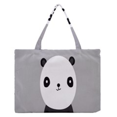 Cute Panda Animals Medium Zipper Tote Bag