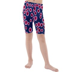 Cute Red Ball Kids  Mid Length Swim Shorts
