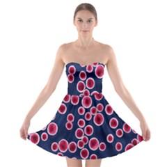 Cute Red Ball Strapless Bra Top Dress