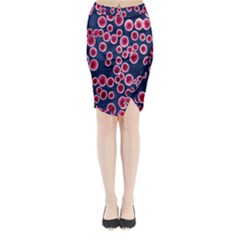 Cute Red Ball Midi Wrap Pencil Skirt