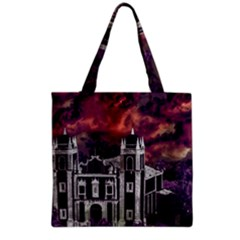 Fantasy Tropical Cityscape Aerial View Grocery Tote Bag