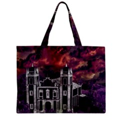 Fantasy Tropical Cityscape Aerial View Mini Tote Bag