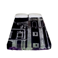 Fantasy Tropical Cityscape Aerial View Fitted Sheet (Full/ Double Size)