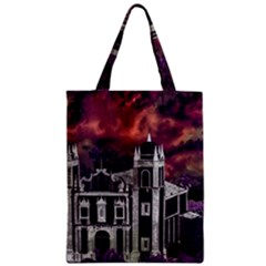 Fantasy Tropical Cityscape Aerial View Zipper Classic Tote Bag