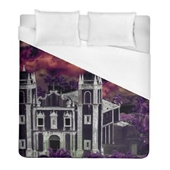 Fantasy Tropical Cityscape Aerial View Duvet Cover (Full/ Double Size)