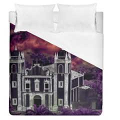 Fantasy Tropical Cityscape Aerial View Duvet Cover (Queen Size)