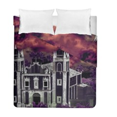 Fantasy Tropical Cityscape Aerial View Duvet Cover Double Side (Full/ Double Size)