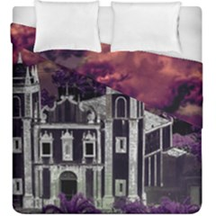 Fantasy Tropical Cityscape Aerial View Duvet Cover Double Side (King Size)