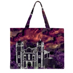 Fantasy Tropical Cityscape Aerial View Large Tote Bag