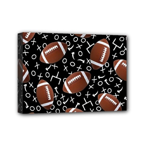 Football Player Mini Canvas 7  x 5