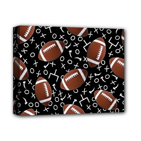 Football Player Deluxe Canvas 14  x 11