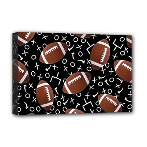 Football Player Deluxe Canvas 18  x 12