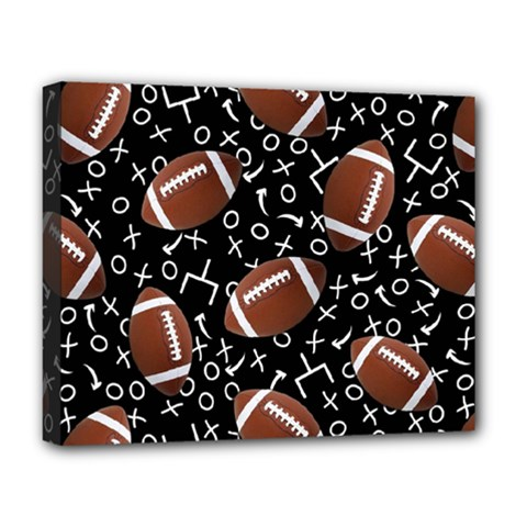 Football Player Deluxe Canvas 20  x 16
