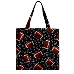Football Player Zipper Grocery Tote Bag