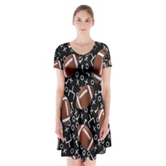 Football Player Short Sleeve V-neck Flare Dress