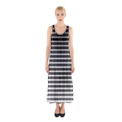 Dark Circles Halftone Black White Copy Sleeveless Maxi Dress