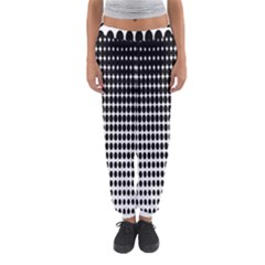 Dark Circles Halftone Black White Copy Women s Jogger Sweatpants