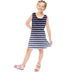 Dark Circles Halftone Black White Copy Kids  Tunic Dress