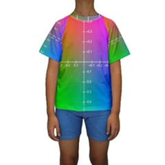 Formula Plane Rainbow Kids  Short Sleeve Swimwear