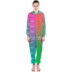 Formula Plane Rainbow Hooded Jumpsuit (Ladies)