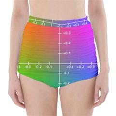 Formula Plane Rainbow High-Waisted Bikini Bottoms