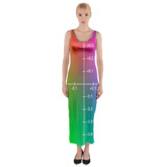 Formula Plane Rainbow Fitted Maxi Dress