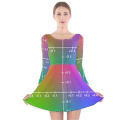 Formula Plane Rainbow Long Sleeve Velvet Skater Dress