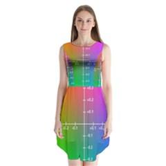 Formula Plane Rainbow Sleeveless Chiffon Dress